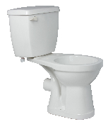 White Elongated Complete Toilet with Bowl and Tank