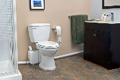 Sanibest Pro Pump & White Elongated Toilet Kit