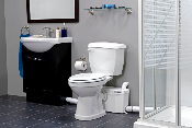 Saniplus Pump with White Elongated Toilet