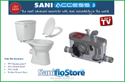 Saniflo Saniaccess 3 Macerating Pump & Round Toilet Kit