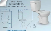 Saniflo Rear Discharge Round Toilet Bowl