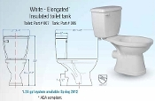 Saniflo Rear Discharge Elongated Toilet Bowl